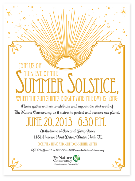 Summer Solstice Invitation